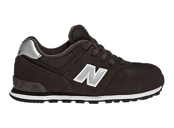 New Balance 574, Brown with Silver