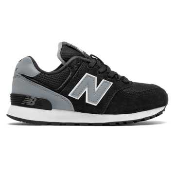 New Balance 574 High Visibility, Black with Grey