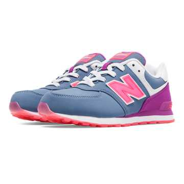 New Balance 574 Glacial, Lavender with Pink Glo & White
