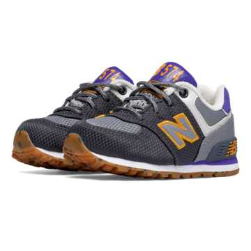 New Balance 574 Weekend Expedition, Grey with Purple Heather