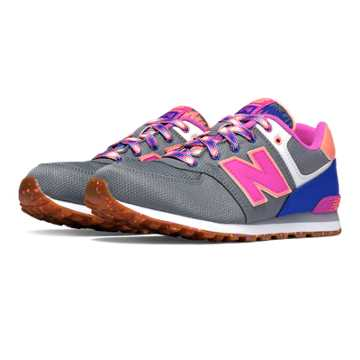 New Balance 574 Weekend Expedition, Light Grey with Purple Cactus Flower