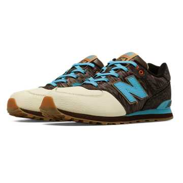 New Balance 574 Deep Freeze, Brown with Off White & Bolt