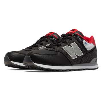 New Balance 574 Deep Freeze, Black with Silver & Red