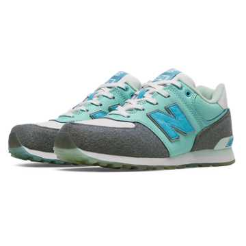 New Balance 574 Deep Freeze, Artic Blue with White & Grey