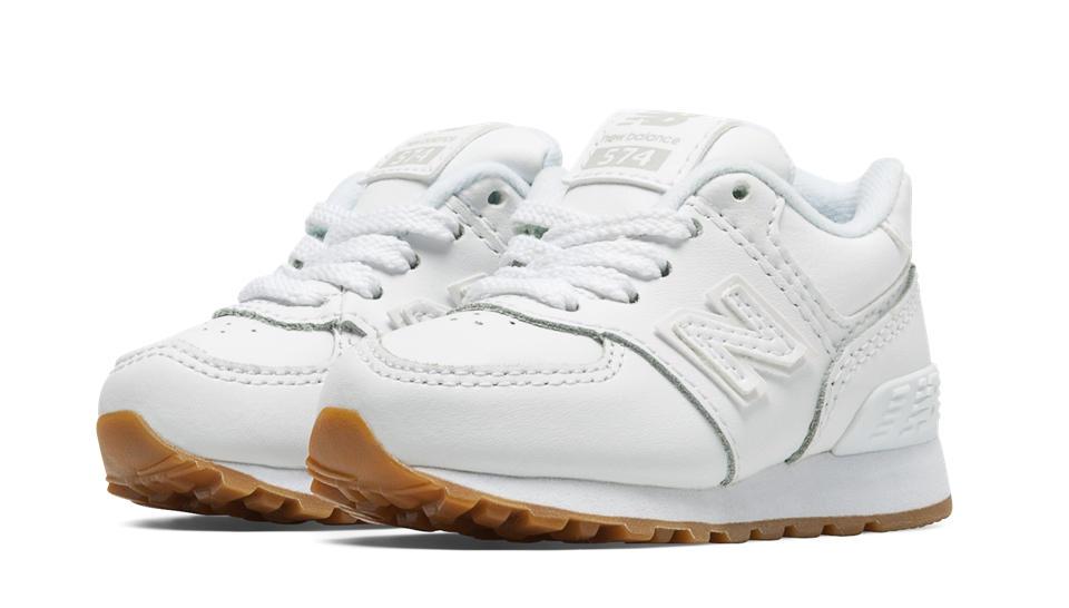new balance 574 leather white