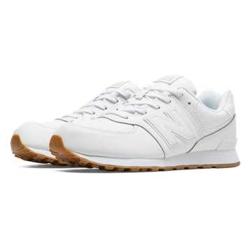 New Balance 574 Leather, White