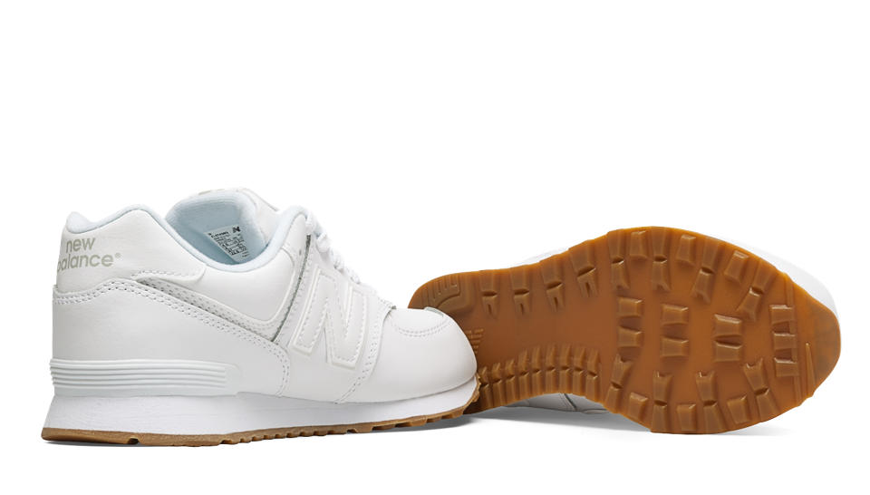 New Balance 574 White Leather