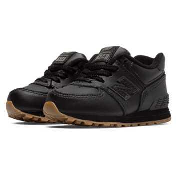 New Balance 574 Leather, Black