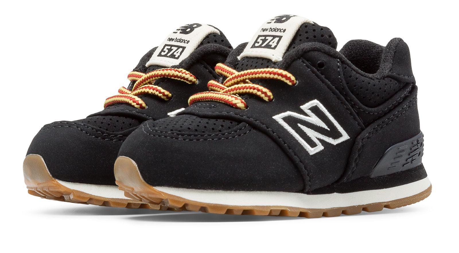New Balance 574 Heritage Sport Infant Boys Shoes Black
