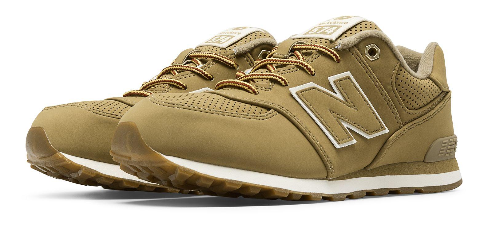 New Balance 574 Heritage Sport Grade - school Boys Shoes Tan