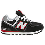 New Balance 574, Black with Red