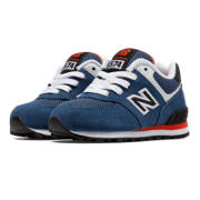 574 New Balance, Blue with Black & Orange