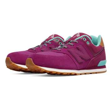 New Balance 574 Collegiate, Purple with Blue Atoll