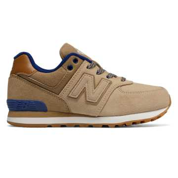 New Balance 574 Collegiate, Tan with Purple