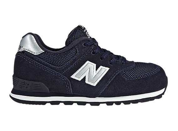 New Balance 574, Navy with Silver