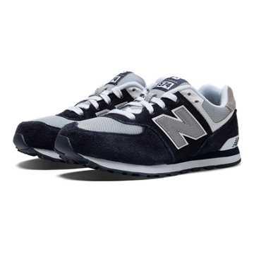 New Balance 574 New Balance, Navy with Grey & White