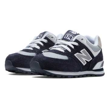 New Balance 574 New Balance, Navy with Grey & White