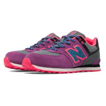 New Balance 574 Outside In, Voltage Violet with Grey & Blue
