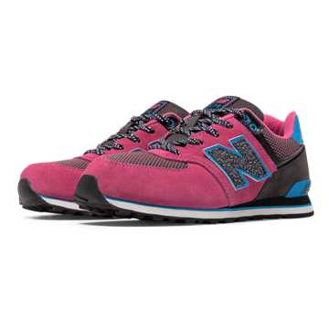 New Balance 574 Outside In, Pink Zing with Black & Bolt