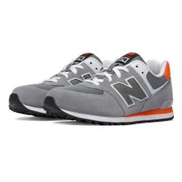 New Balance 574 New Balance, Grey with Orange