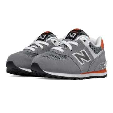 New Balance 574 New Balance, Grey with Orange