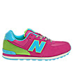 New Balance 574, Diva Pink with Blue Atoll & Green Oasis