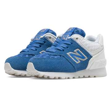 New Balance 574 Breathe, Blue with White