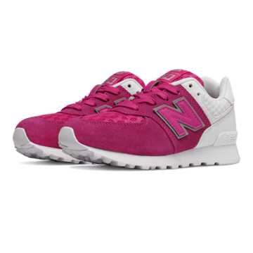 New Balance 574 Breathe, Pink Zing with White