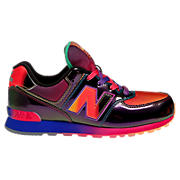 Rainbow 574, Black with Race Red & Neon Blue