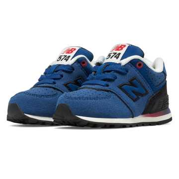 New Balance 574 Gradient, Blue with Black & Red