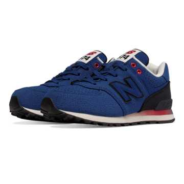 New Balance 574 Gradient, Blue with Dark Green