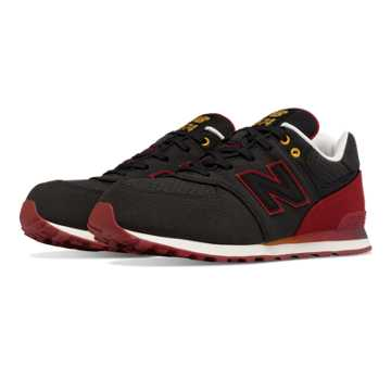 New Balance 574 Gradient, Black with Red