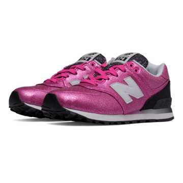 New Balance 574 Gradient, Pink Glo with Black