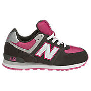 New Balance 574, Dark Grey with Berry & Cream