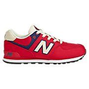 Rugby 574, Red with Navy