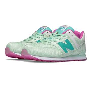 New Balance 574 Summer Waves, Mint with Teal