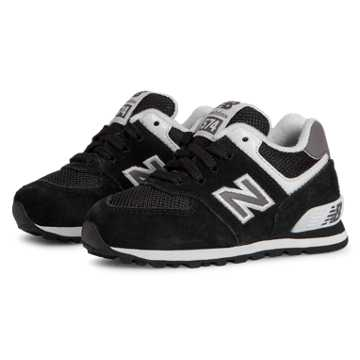 New Balance 574 New Balance, Black with White & Grey