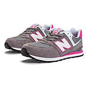 New Balance 574, Grey with Pink Shock
