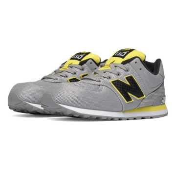 New Balance 574 Summer Waves, Grey with Yellow