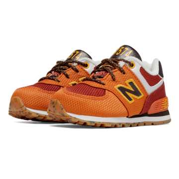 New Balance 574 Weekend Expedition, Orange with Dark Red