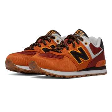New Balance 574 Weekend Expedition, Orange with Dark Red