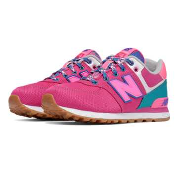 New Balance 574 Weekend Expedition, Pink with Blue