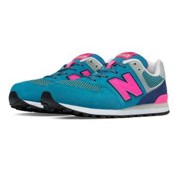 New Balance 574 Summit, Capri Breeze with Pink Glo