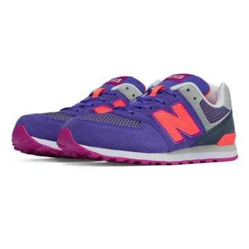 New Balance 574 Summit, Purple with Pink Glo