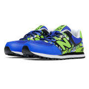 NB New Balance 574, Blue with Green