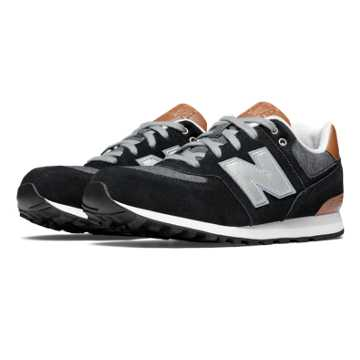 New Balance 574 Cruisin, Black with Grey