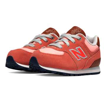 New Balance 574 Cruisin, Dusty Coral with Fiery Sunset & Bright Peach