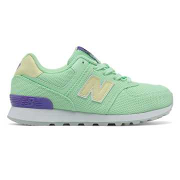 New Balance 574 Miami Palms, Mint with Purple