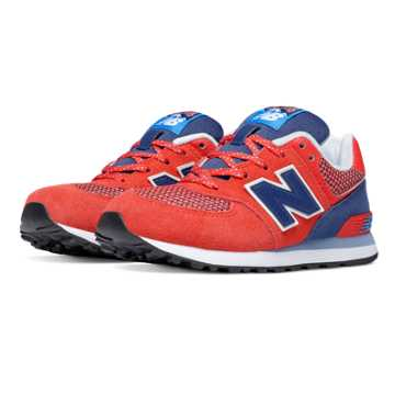 New Balance 574 Day Hiker, Red with Blue