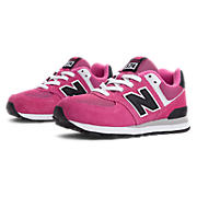 New Balance 574, Pink Glo with Grey & White